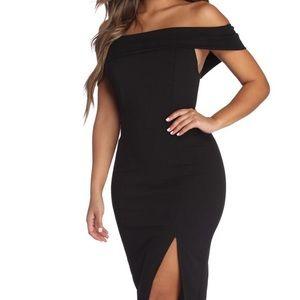 Windsor Kate Off Shoulder Midi Dress